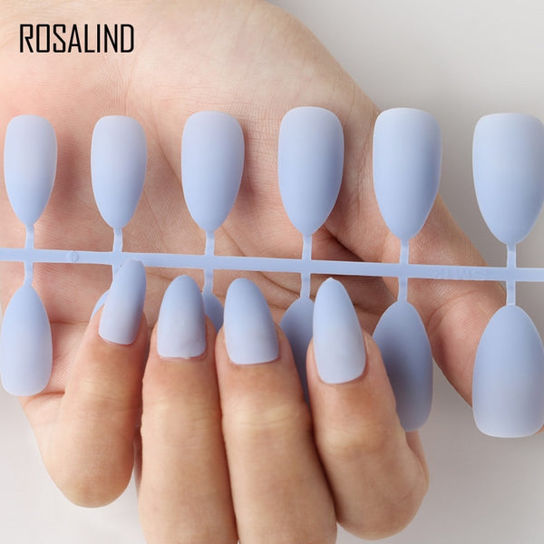 ROSALIND  Fake Nails Matte False nail 24pcs Detachable tips for Nail Extension  Manicure Art press on Fake False Nails