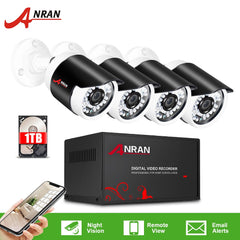 ANRAN 1080P AHD CCTV Camera System Analog HD Security Camera 4CH DVR Kit Waterproof Outdoor CCTV Home Video Surveillance System