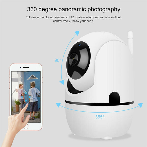 1080P Cloud Wifi IP Camera Home Security Surveillance Camera white  Auto Tracking Network WiFi Camera Baby Monitor Night Vision