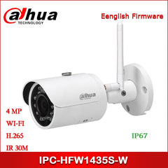 Dahua IP Camera 4MP IPC-HFW1435S-W Security Camera IR H.265 Bullet Wi-Fi Network Camera