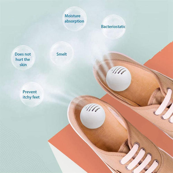 10Pcs/set Shoes Cleaner Fresher Deodorant Dry Deodorizer Air Purifying Switch Ball Shoes Odor Eliminator Balls For Shoes