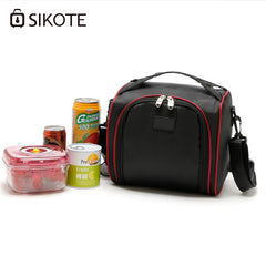 SIKOTE Portable Lunch Bags Picnic Travel Storage Canteen Bag thicken Storage Lunch box Fresh Keep Thermal Insulated Cooler Bag