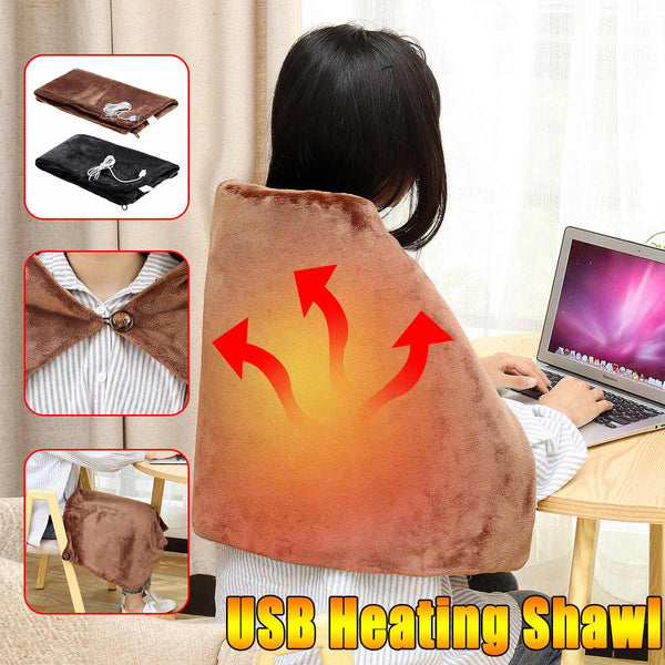 45x80cm Electric Warming USB Heating Shawl Blanket Soft Pad Shoulder Space Heaters Winter Warm Health Care For Home/Office