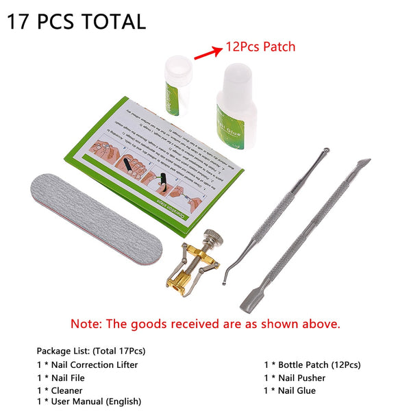 Toenail Ingrown Correction Tool Toe Nail Lifter Nail Glue Toenail Straightening Patch Pusher Recover Pedicure Foot Care