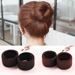 Fashion Girl Hair Clip Hair Care and Styling Tools Donuts Front Foam Twist Magic Hair Bun