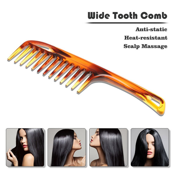 Plastic Hair Brush Wide Tooth Comb Anti-Static Large Wide Comb  Hair Care Styling Tool for Straight Curly Hair Brush