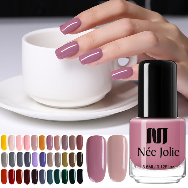NEE JOLIE Nail Polish  Coffee Gray Red Series Nail Varnich Pure Nail Color Nail Art Polish Lacquer Decoration 3.5ml