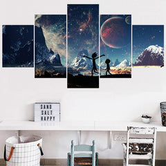 Classical Wall Art Pictures Home Decor Rick And Morty Animation Canvas Painting Calligraphy Living Room HD Printed Poster