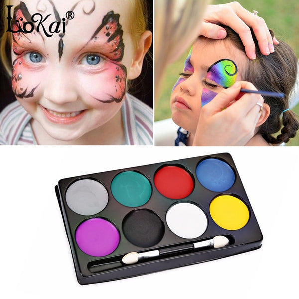 Fashion 8 Colors Waterproof Flash Tattoo Face Body Paint Oil Painting Art use in Halloween Party Fancy Dress Beauty Makeup Tool