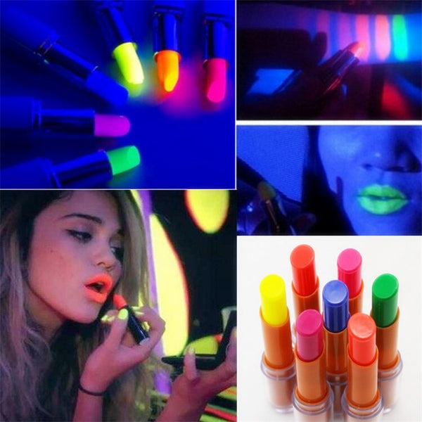 NEW 6 Colors Noctilucent Lipsticks Makeup Shiny Available Glow In The Dark Party Fluorescent Luminous Lip Stick Beauty Cosmetics