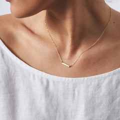 Stainless Steel Square Strip Pendant Necklaces Stick Charm Choker Necklace Rose Gold Silver Color Statement Necklace Women Gift