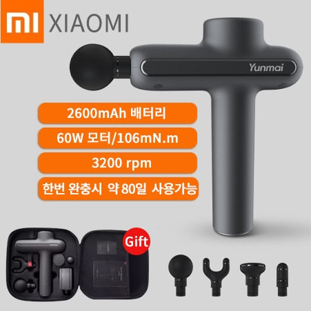 Xiaomi YUNMAI Massage Gun Muscle Massager 3 Archives 4 Head Relax Muscle Slimming Shaping Exercising Body Portable Massager