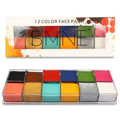 Wholesale 12 Colors Face Paint Drama Clown Dance Party Oil Paint Oil Color Festival Halloween Makeup Body Painting Fake Blood