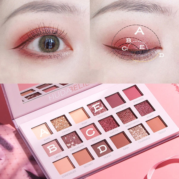18 Color Eyeshadow Nude Shining Makeup Glitter Pigment Powder Shimmer Eye Shadow Pallete Waterproof Cosmetics Eye Shadow