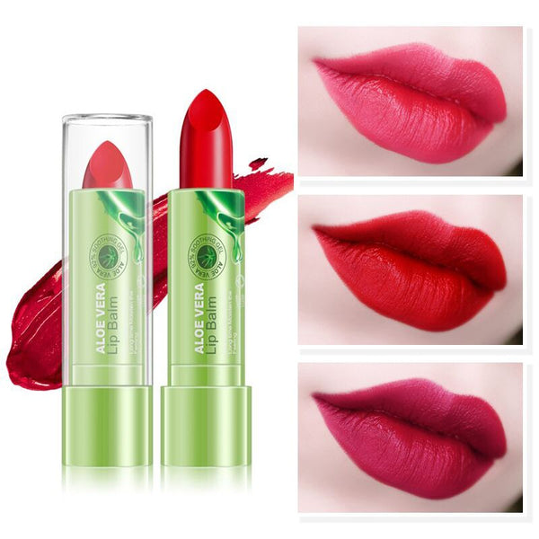 Natural  Aloe Vera Lipstick Moisturizing Long-Lasting Matte Lipstick Nourish Repair Lip  Lip Balm Makeup Cosmetic