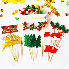 Christmas Decoration Cake Topper Christmas Wreath Cake Decoration Pine Tree Christmas Tree Decoration Pendant Big Sale