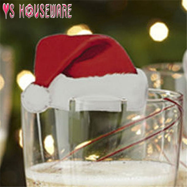 New Fashion 10pcs Christmas Glass Sign Flag Xmas Party Dinner Toothpick Flag Food Decoration Christmas Ornaments Hot Sale