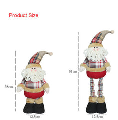 Snowman Deer Santa Claus Telescopic Doll Christmas Tree Decor Kids Gift Hot Sale