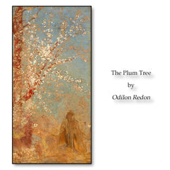 The Plum Tree by Odilon Redon Painting Calligraphy Posters Pictures Wall Art Prints Decoration For Living Room Bedroom