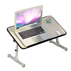 Simple Laptop Table Folding Lifting Bed Desk Cooling Students Reading Studying Desk Computer Desk With Fan