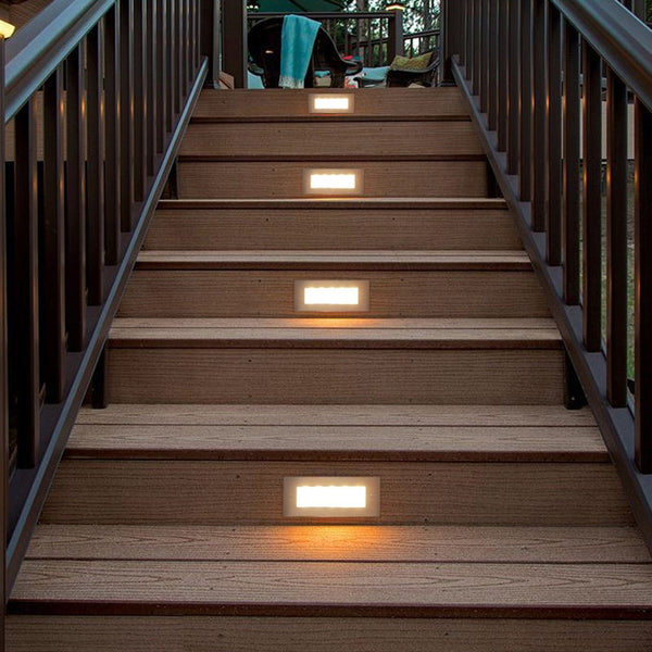 LED Deck Step Light 3W 4W Underground Lamp Recessed Stair Paitio Inground Spot Light Floor Garden Landscape Wall Outdoor Lightin