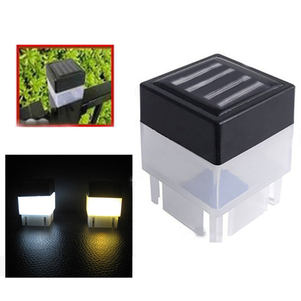 New High Quality Solar Powered Outdoor LED Square Fence Light Garden Landscape Post Deck Lamp Lampe#X
