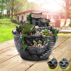 Succulent Plants Planter Flowerpot Resin Flower Pot Desktop Potted Holder Home Garden Decoration Plants Holder