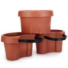 3 Pc/Lot Unique Gutter Downspout Garden Flower Pot Drain Pipe Flower Pots Tubs Drain Pipe Garden Planters