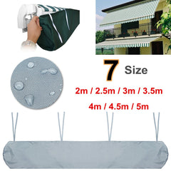 2/2.5/3.0/3.5/4/4.5/5m 7 Sizes Patio Awning Winter Storage Bag Yard Garden Shelters Rain Weather Cover Protector Sun Canopies