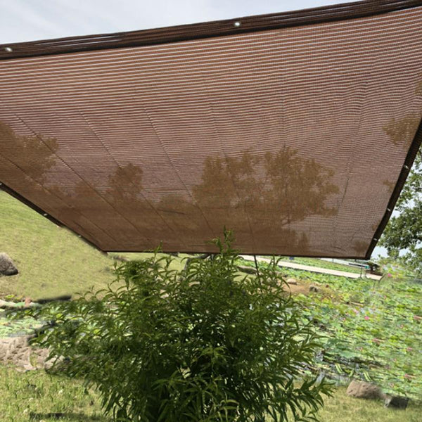 2019 Sunblock Shade Sail Brown Curtain Net Boutique Plant Flower Core Shade Net PE Material High Density Gardening Supplies
