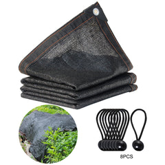 Sunblock Shade Cloth Net Black Uv Resistant Garden Shade Mesh Tarp For Greenhouse Plant Flower Hade Net Shading Rate 65%-75%