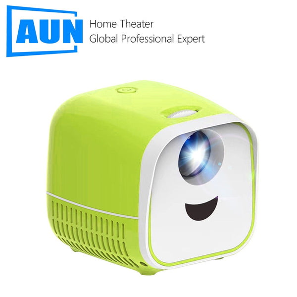 AUN L1 MINI Portable Projector, 1000 Lumens USB Pocket Kids Toy LED Projector Video Beamer for 1080P Home Theater Media Player