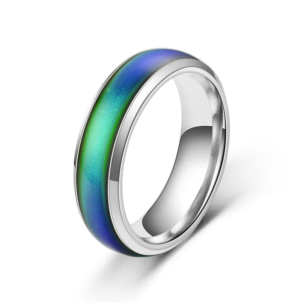 Classic Temperature Change Color Mood Ring Hot Sale Jewelry Smart Discolor Rings Best Gift For Friends Free Shipping