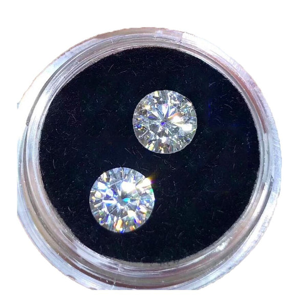 2pcs Moissanite 5mm GH Color 0.5ct Lab Diamond Round Brilliant Cut jewelry bracelet High quality DIY material