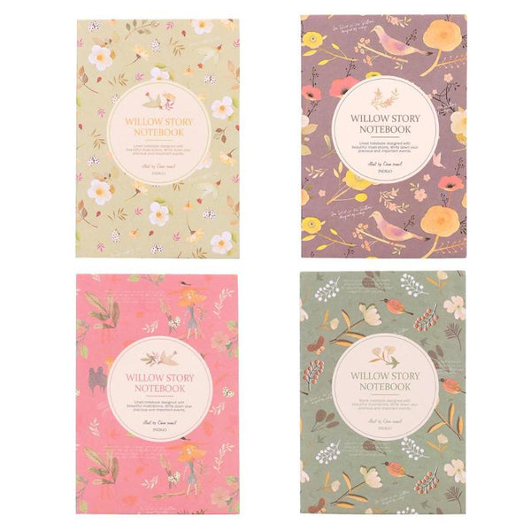 1pc/3pcs Flower Bird Pocket Notebook Journals Paper Diary Weekly Planner Writing Pad For Students Office Stationery Gift