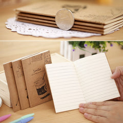 Craft Paper Notepad Student Notebook Office School Gifts Supplies Writing Pads Random Design
