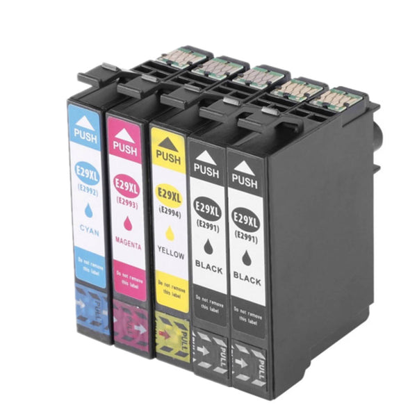 5Pack  T2991 T2992 T2993 T2994 Ink Cartridge Compatible for Epson 29XL for Epson XP 235 332 432 247 442 342 345 Printer