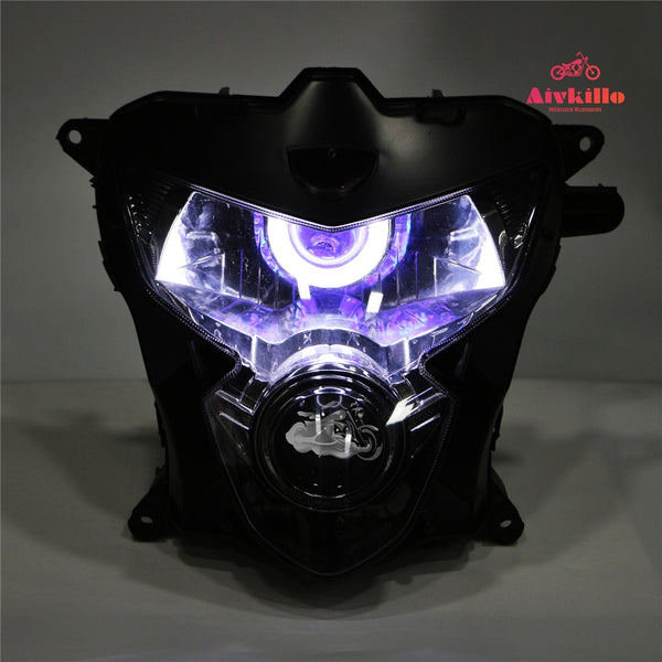 Spare parts headlamp with angel eyes HID Projector headlight with project for Suzuki GSXR600/750 04-05 K4