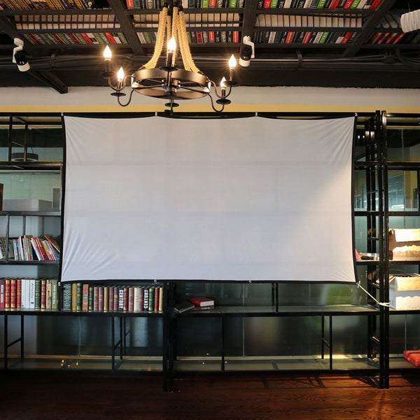 Projector Screen Manual Widescreen Portable 16:9 Projector Screen for Home Office 60 72 84 100 120 150 inch
