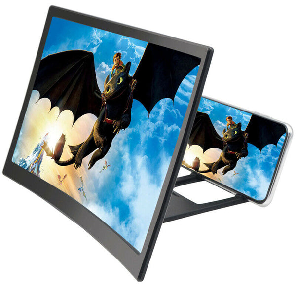 12 inch Mobile Phone Screen Magnifier 3D HD Video Amplifier Smartphone Stand Bracket Projection Screens