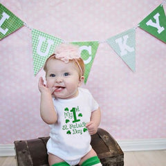 My First St Patricks Day Print Newborn Baby Holiday Rompers Infant Boy Girl 1st Saint Patricks Cute Party Jumpsuit Outfit