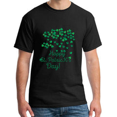 Funny Happy Saint Patricks Day Luck Shamrock t shirt plus sizes s-5xl fitted Original Leisure mens tshirts black Tee top