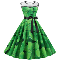 Fashsiualy St. Patrick's Day dresses Women Festive Dress Saint Patrick Parades Irish St. Patrick's Day Dress Vestido de verano