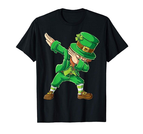 Dabbing Leprechaun Shirt St Patricks Day Men Dab New 2019 Fashion Hot Sale Summer Street Wear Style Funny Casual Tops T Shirts