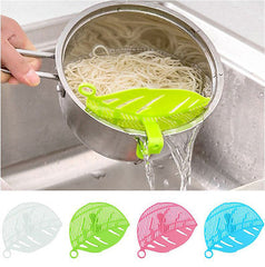 Hot 1PC Leaf Shape Durable Practial Plastic Kitchen Rice Beans Peas Wash Sieve Kitchen Washing Cleaning Tool Gadget Clips Filter