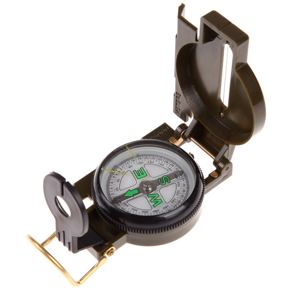 Portable Army Green Folding Lens Compass Military Multifunction Compass Boat Compass Dashboard Dash Mount Outdoor tools