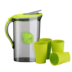 2.1L Large Capacity Plastic Cold Water Container Kettle Water Jug Sets Canteens with Cups for Home and Kitchen Water Drink Cup