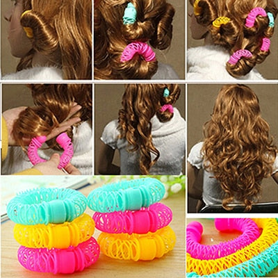 8 Pcs/Lot Magic Curler Hair Rollers Curls Roller Lucky Donuts Curly Hair Styling Make Up Tools Accessories For Woman Lady