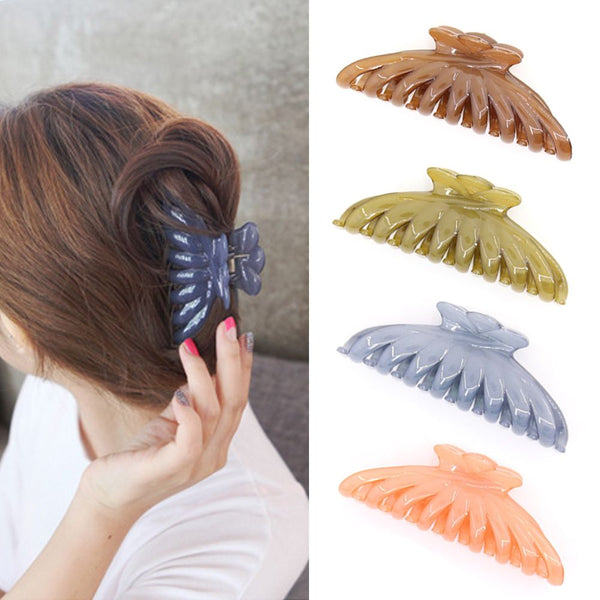 Korean Style Women Butterfly Holding Hair Claw Section Styling Tools Hair Clip Clamps Care Hairpins Pro Women Girls Hairdress