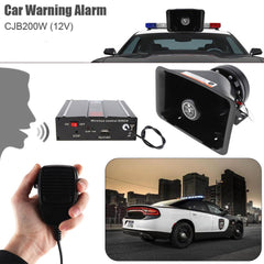 Universal DC12V 200W 9 Tone Loud Car Warning Alarm Police Siren Horn Speaker with MIC System